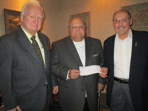 Ray Nolan and Wilfrid Godin Receive Donation from Paul Plante