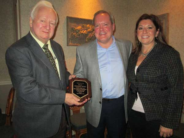 Mr. and Mrs. David Soucy Receive Award from Ray Nolan (NRICA Board Vice-President)